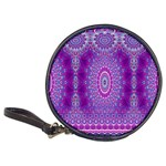 India Ornaments Mandala Pillar Blue Violet Classic 20-CD Wallets Front