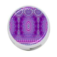 India Ornaments Mandala Pillar Blue Violet 4 Port Usb Hub (one Side) by EDDArt