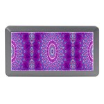 India Ornaments Mandala Pillar Blue Violet Memory Card Reader (Mini) Front