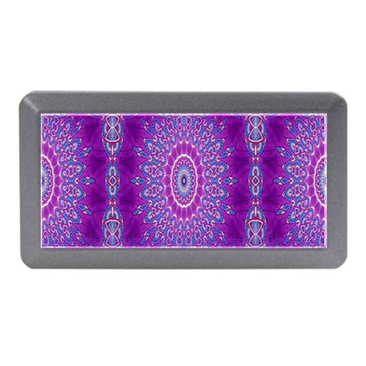 India Ornaments Mandala Pillar Blue Violet Memory Card Reader (Mini)