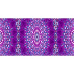 India Ornaments Mandala Pillar Blue Violet You Are Invited 3d Greeting Card (8x4)
