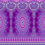 India Ornaments Mandala Pillar Blue Violet YOU ARE INVITED 3D Greeting Card (8x4) Inside