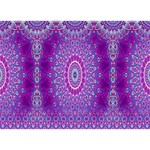India Ornaments Mandala Pillar Blue Violet Heart Bottom 3D Greeting Card (7x5) Back