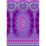 India Ornaments Mandala Pillar Blue Violet Birthday Cake 3D Greeting Card (7x5) Inside