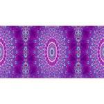 India Ornaments Mandala Pillar Blue Violet Laugh Live Love 3D Greeting Card (8x4) Back