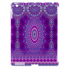 India Ornaments Mandala Pillar Blue Violet Apple Ipad 3/4 Hardshell Case (compatible With Smart Cover) by EDDArt