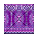 India Ornaments Mandala Pillar Blue Violet Acrylic Tangram Puzzle (6  x 6 )