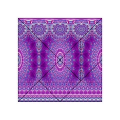 India Ornaments Mandala Pillar Blue Violet Acrylic Tangram Puzzle (4  X 4 ) by EDDArt