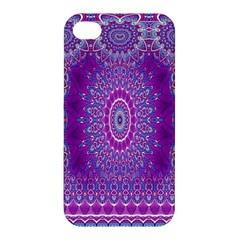 India Ornaments Mandala Pillar Blue Violet Apple iPhone 4/4S Premium Hardshell Case