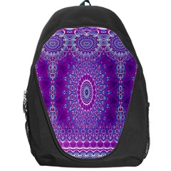 India Ornaments Mandala Pillar Blue Violet Backpack Bag