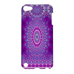 India Ornaments Mandala Pillar Blue Violet Apple iPod Touch 5 Hardshell Case