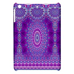 India Ornaments Mandala Pillar Blue Violet Apple Ipad Mini Hardshell Case by EDDArt