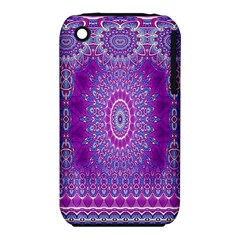 India Ornaments Mandala Pillar Blue Violet Apple Iphone 3g/3gs Hardshell Case (pc+silicone) by EDDArt