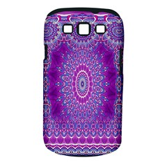 India Ornaments Mandala Pillar Blue Violet Samsung Galaxy S Iii Classic Hardshell Case (pc+silicone) by EDDArt