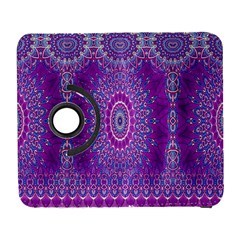 India Ornaments Mandala Pillar Blue Violet Samsung Galaxy S  Iii Flip 360 Case by EDDArt