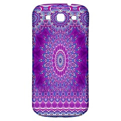 India Ornaments Mandala Pillar Blue Violet Samsung Galaxy S3 S Iii Classic Hardshell Back Case by EDDArt