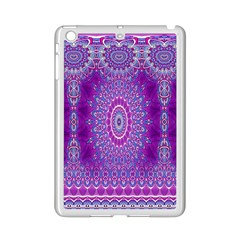 India Ornaments Mandala Pillar Blue Violet Ipad Mini 2 Enamel Coated Cases by EDDArt