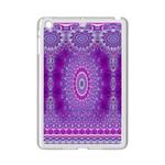 India Ornaments Mandala Pillar Blue Violet iPad Mini 2 Enamel Coated Cases Front