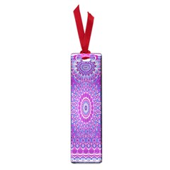 India Ornaments Mandala Pillar Blue Violet Small Book Marks by EDDArt