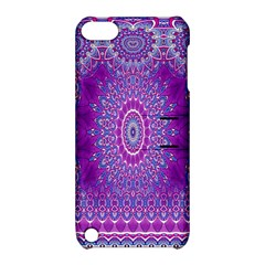 India Ornaments Mandala Pillar Blue Violet Apple Ipod Touch 5 Hardshell Case With Stand