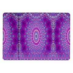India Ornaments Mandala Pillar Blue Violet Samsung Galaxy Tab 10 1  P7500 Flip Case