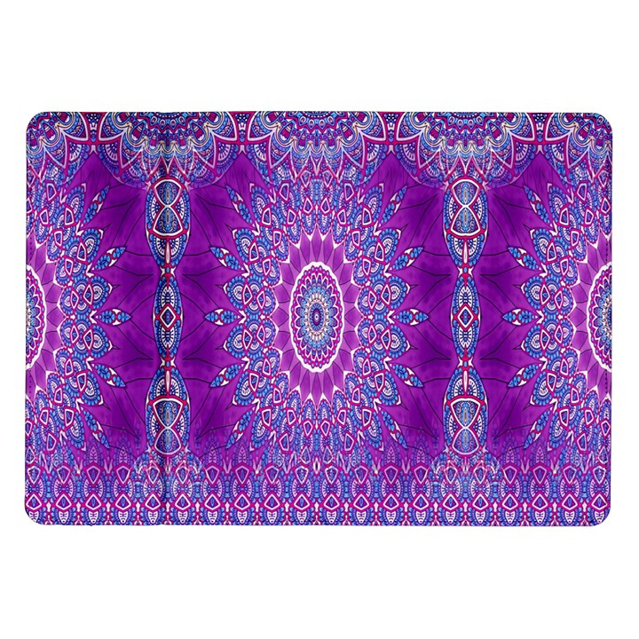 India Ornaments Mandala Pillar Blue Violet Samsung Galaxy Tab 10.1  P7500 Flip Case
