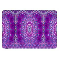 India Ornaments Mandala Pillar Blue Violet Samsung Galaxy Tab 8 9  P7300 Flip Case by EDDArt