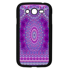 India Ornaments Mandala Pillar Blue Violet Samsung Galaxy Grand Duos I9082 Case (black) by EDDArt