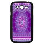 India Ornaments Mandala Pillar Blue Violet Samsung Galaxy Grand DUOS I9082 Case (Black)