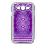 India Ornaments Mandala Pillar Blue Violet Samsung Galaxy Grand DUOS I9082 Case (White) Front