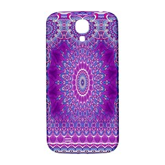 India Ornaments Mandala Pillar Blue Violet Samsung Galaxy S4 I9500/i9505  Hardshell Back Case by EDDArt