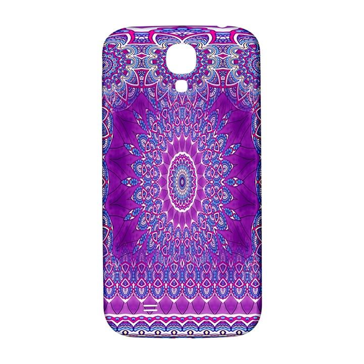 India Ornaments Mandala Pillar Blue Violet Samsung Galaxy S4 I9500/I9505  Hardshell Back Case