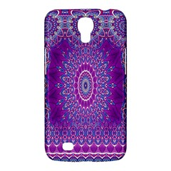 India Ornaments Mandala Pillar Blue Violet Samsung Galaxy Mega 6 3  I9200 Hardshell Case by EDDArt