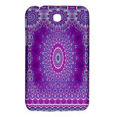 India Ornaments Mandala Pillar Blue Violet Samsung Galaxy Tab 3 (7 ) P3200 Hardshell Case