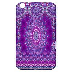 India Ornaments Mandala Pillar Blue Violet Samsung Galaxy Tab 3 (8 ) T3100 Hardshell Case