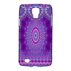 India Ornaments Mandala Pillar Blue Violet Galaxy S4 Active by EDDArt