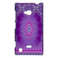 India Ornaments Mandala Pillar Blue Violet Nokia Lumia 720 by EDDArt