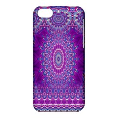 India Ornaments Mandala Pillar Blue Violet Apple Iphone 5c Hardshell Case by EDDArt