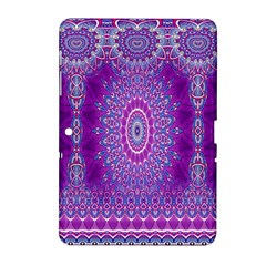 India Ornaments Mandala Pillar Blue Violet Samsung Galaxy Tab 2 (10 1 ) P5100 Hardshell Case  by EDDArt