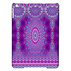 India Ornaments Mandala Pillar Blue Violet Ipad Air Hardshell Cases
