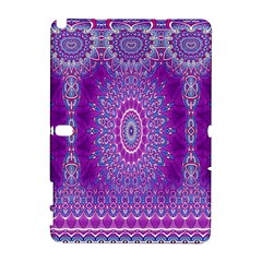 India Ornaments Mandala Pillar Blue Violet Samsung Galaxy Note 10 1 (p600) Hardshell Case by EDDArt