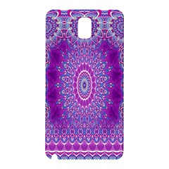 India Ornaments Mandala Pillar Blue Violet Samsung Galaxy Note 3 N9005 Hardshell Back Case by EDDArt