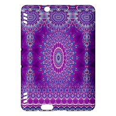 India Ornaments Mandala Pillar Blue Violet Kindle Fire Hdx Hardshell Case by EDDArt