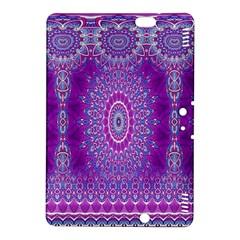 India Ornaments Mandala Pillar Blue Violet Kindle Fire Hdx 8 9  Hardshell Case by EDDArt