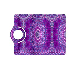 India Ornaments Mandala Pillar Blue Violet Kindle Fire Hd (2013) Flip 360 Case by EDDArt
