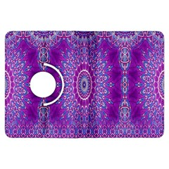 India Ornaments Mandala Pillar Blue Violet Kindle Fire Hdx Flip 360 Case by EDDArt