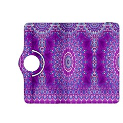 India Ornaments Mandala Pillar Blue Violet Kindle Fire Hdx 8 9  Flip 360 Case