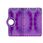 India Ornaments Mandala Pillar Blue Violet Kindle Fire HDX 8.9  Flip 360 Case Front