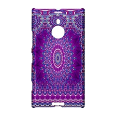 India Ornaments Mandala Pillar Blue Violet Nokia Lumia 1520 by EDDArt