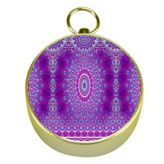 India Ornaments Mandala Pillar Blue Violet Gold Compasses by EDDArt